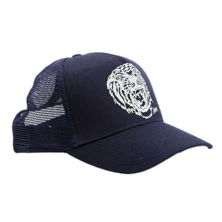 Sailor Jerry Tattoo Mens Tiger Tattoo Dark Navy Snapback Trucker Hat Cap (Sailor Caps For Sale)