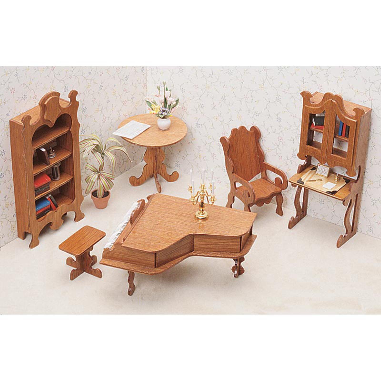 Greenleaf Library Furniture Kit Set - 1 Inch Scale
