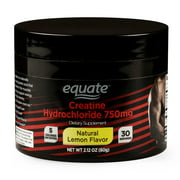 Equate Creatine, Natural Lemon Flavor, 2.12 oz