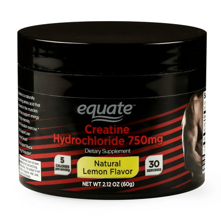 Equate Creatine, Natural Lemon Flavor, 2.12 oz (Best Protein Powder With Creatine)