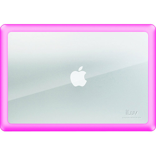 "iLuv 15"" Dual Material Skin for MacBook Pro, Pink"