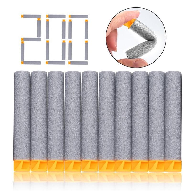 Foam Refill Darts,New Design 200pcs Set 7.2cm Soft Safety EVA Foam Refill Bullets Darts for N-strike Elite Series Blasters Kids Toy Children Gift