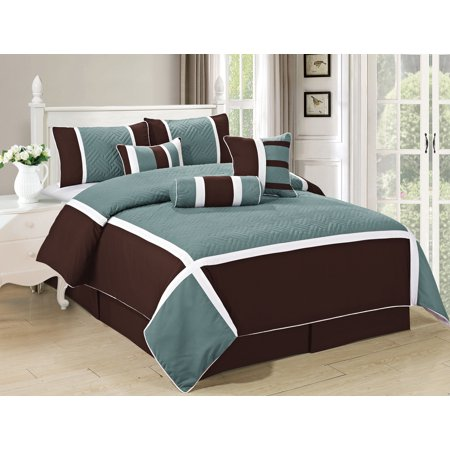 All American Collection New 7 Piece High Quality Embroidered Over-sized Comforter