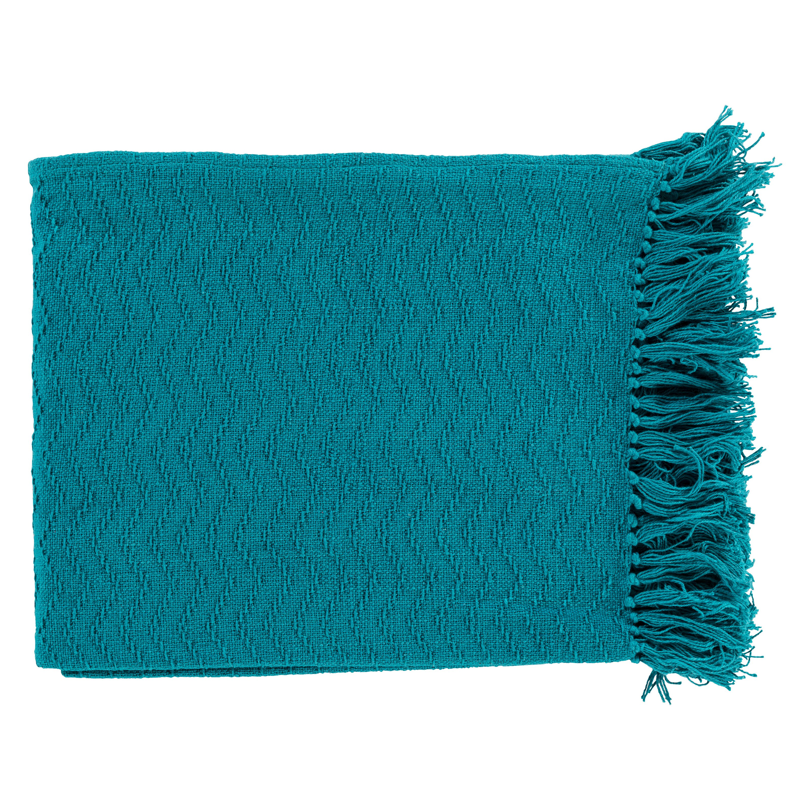 Surya Thelma Cotton Throw Blanket