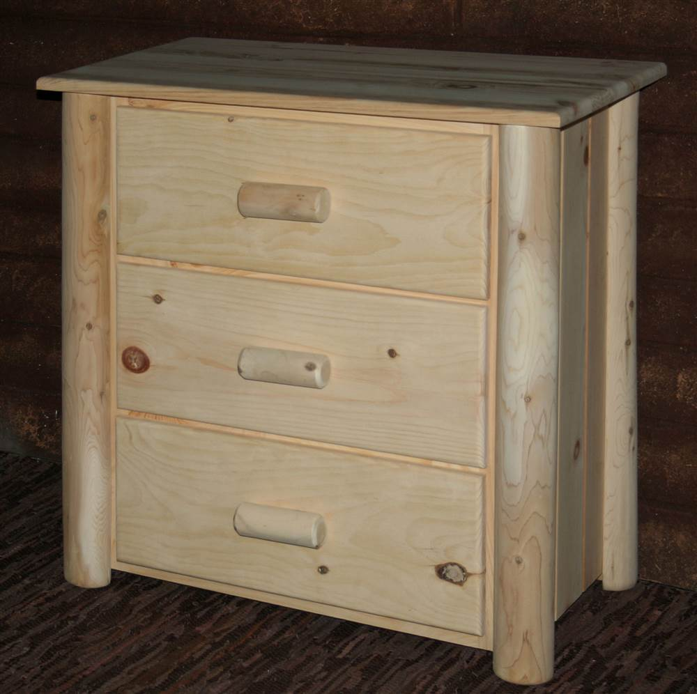 Frontier Chest w 3 Drawers (Unfinished)