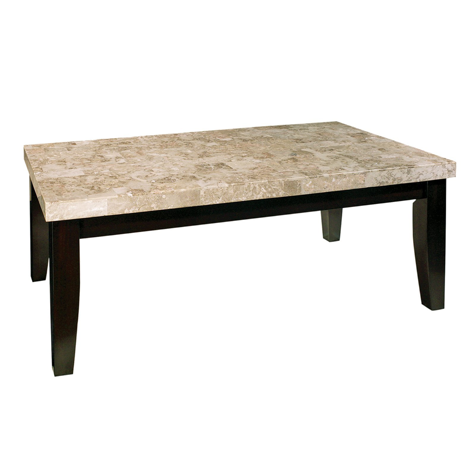 Charmant Steve Silver Monarch Rectangle Marble Top Coffee Table   Walmart.com