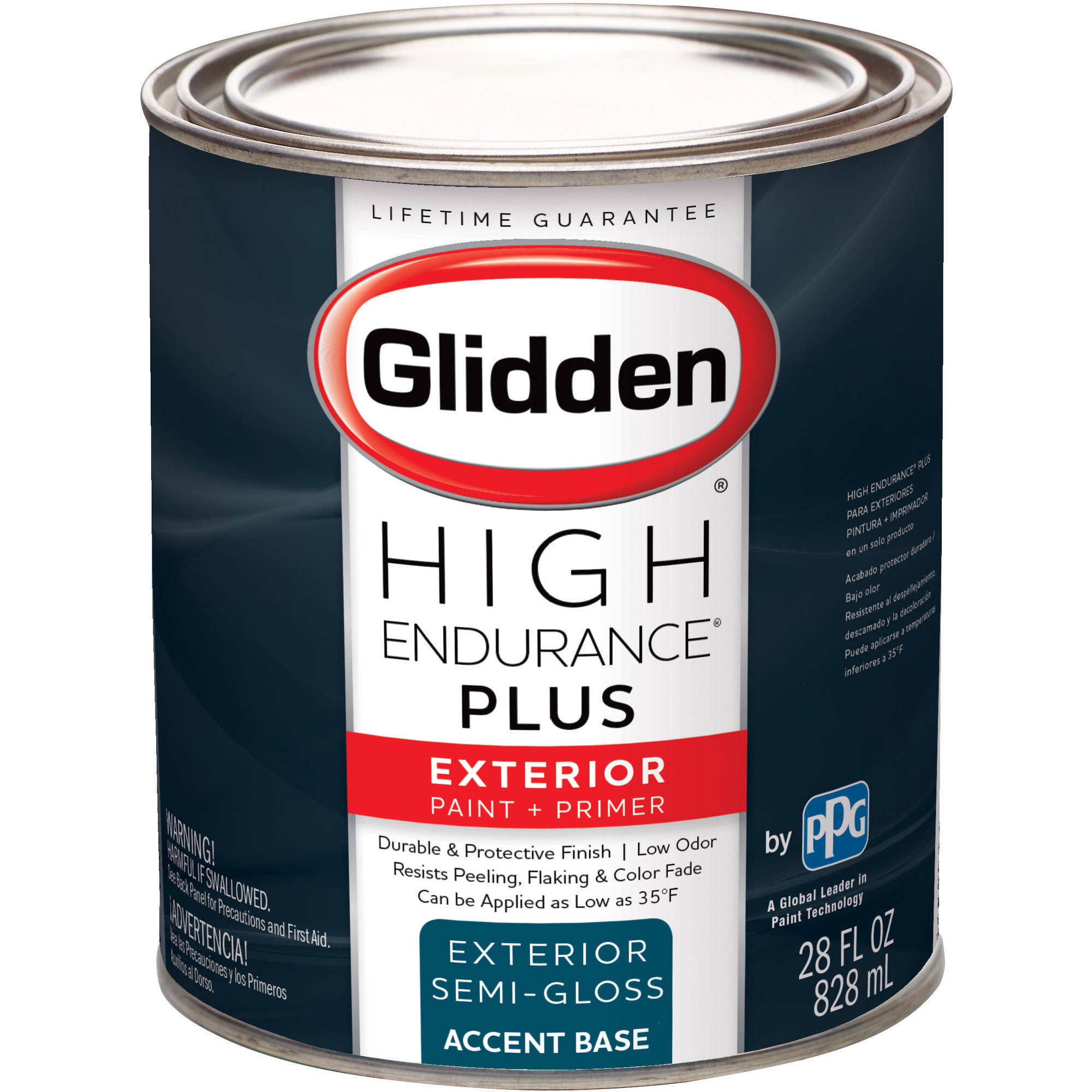 Glidden High Endurance Plus, Exterior Paint, Semi Gloss Finish, Accent  Base, 1 Quart   Walmart.com Part 64