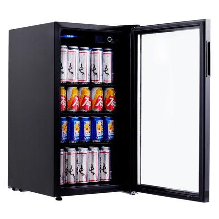 Gymax 120 Can Beverage Refrigerator Beer Wine Soda Drink