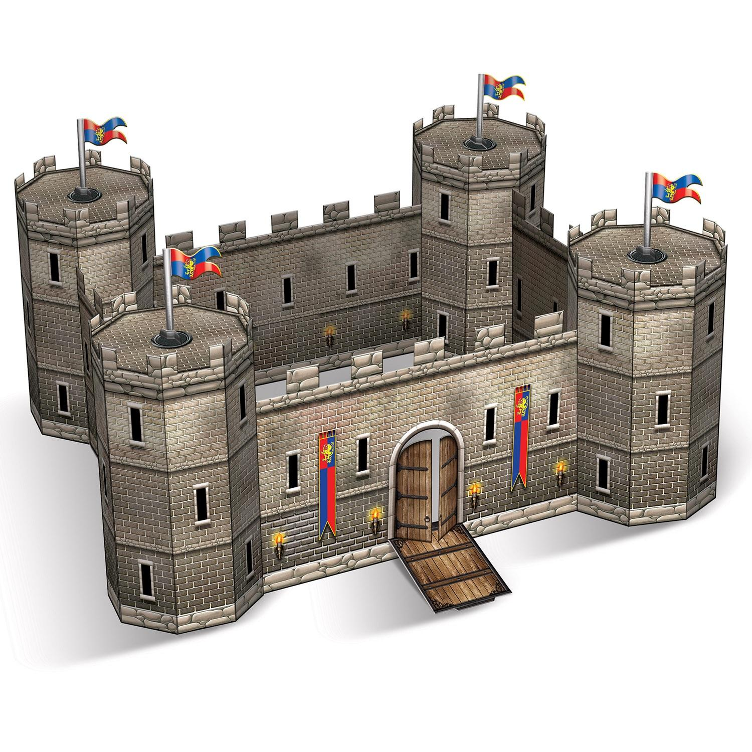 """Club Pack of 12 Decorative Medieval Birthday 3-D Castle Centerpiece 9"""""""