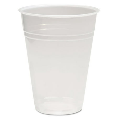 BoardWalk TRANSCUP10PK Translucent Plastic Cold Cups, 10oz, (Translucent Cold Cups)