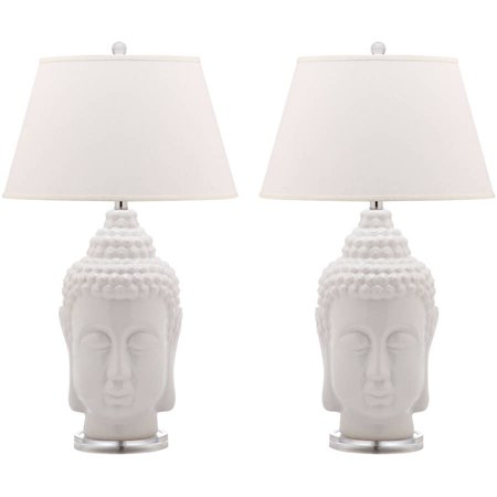 Serenity Handcrafted Lamp (Safavieh Serenity Buddha Lamp with CFL Bulb, Set of 2)