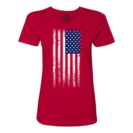 American Flag RedWhiteBlue Womens Short Sleeve ()