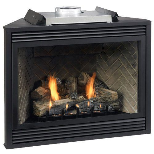 "Tahoe Premium 48"" Multi-Functional DV Fireplace with Blower - NG"