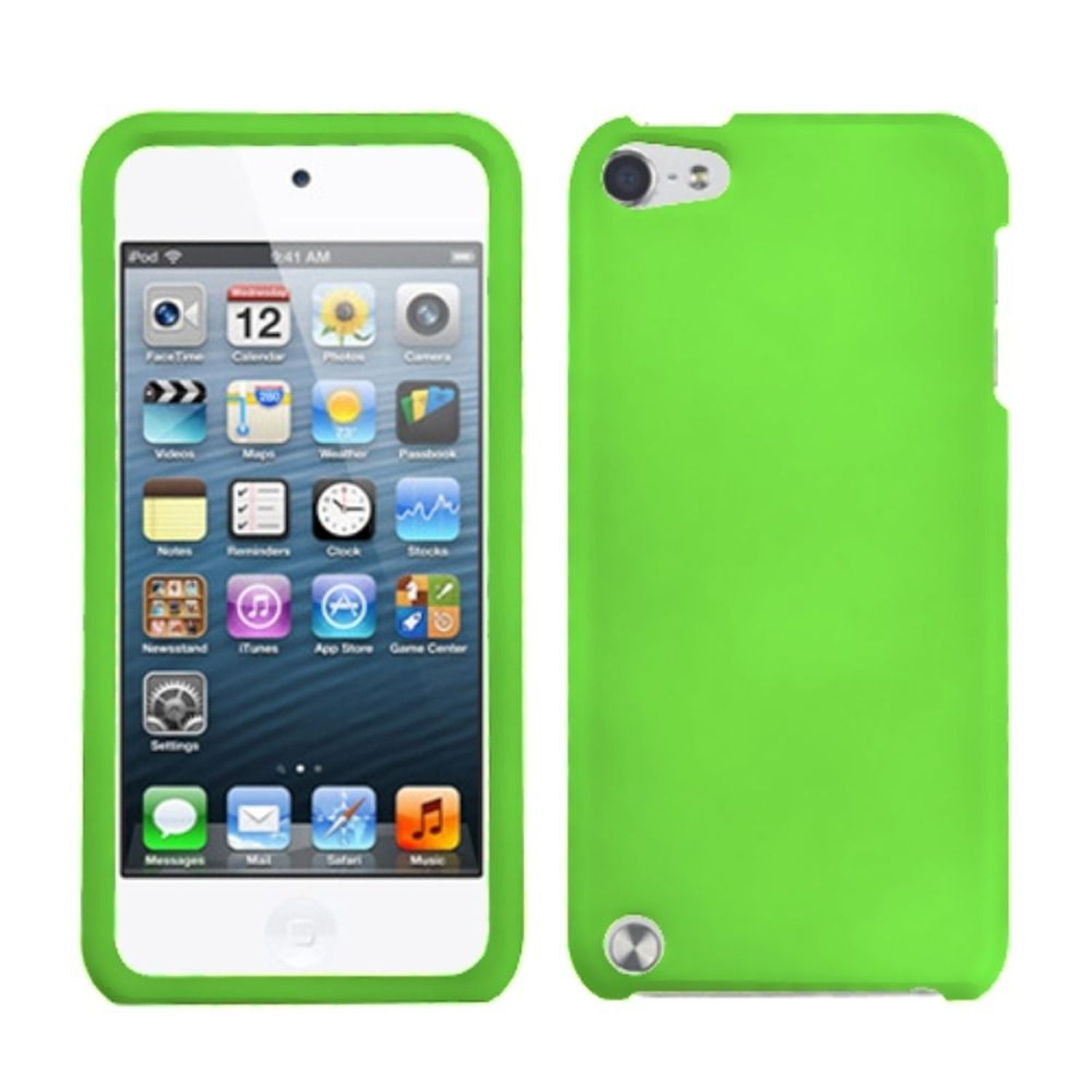 Insten Dr Green Phone Protector Cover(Rubberized) Case For iPod Touch 6 6th 5 5th Gen