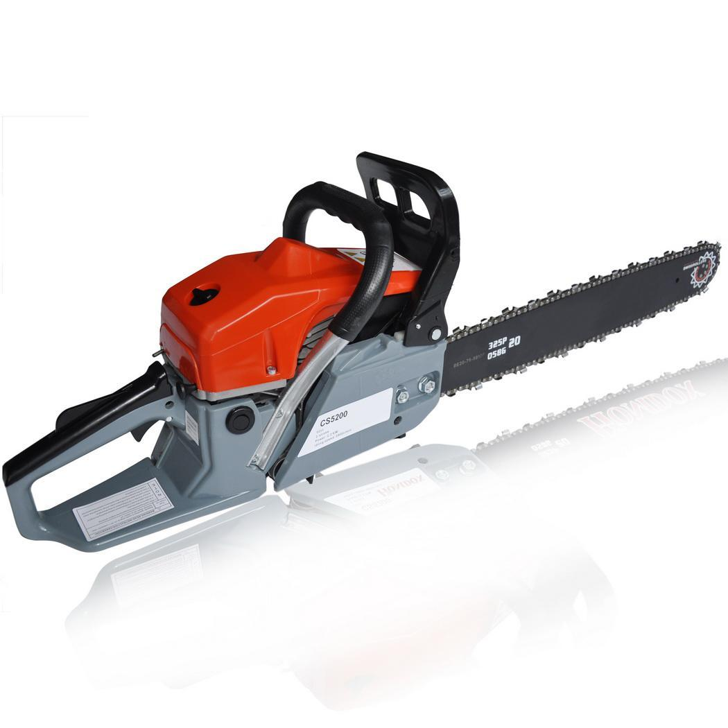Clearance! Hifashion 20inch 52cc 4.0HP Gas Petrol Chainsaw, With 2 stokes, Chains, Bar Cover and Tool Kit Garden Home Use HFON