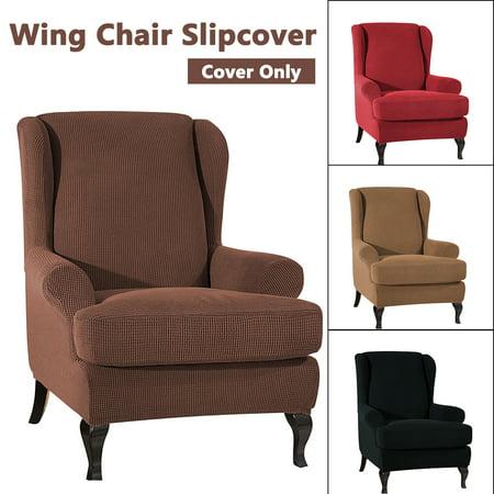New Elastic Fibre Armchair Wingback, Velvet Wing Chair Cover