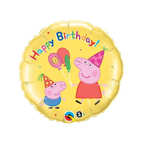 "Peppa Pig 18"" Happy Birthday Balloon (Each) - Party Supplies"