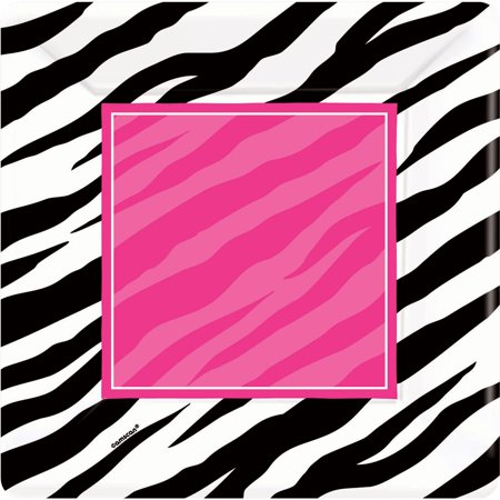 Zebra Party Cake Plates (8 Pack) - Party Supplies ()