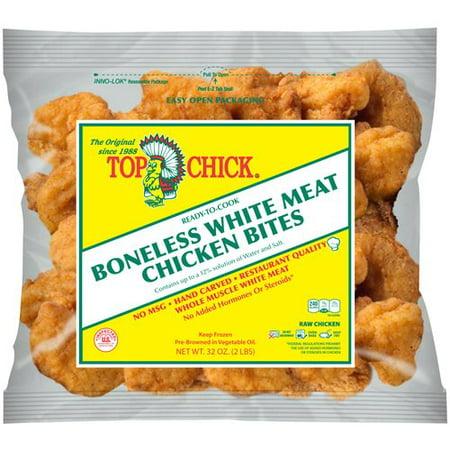 Top Chick Boneless White Meat Chicken Bites 32 Oz Walmart