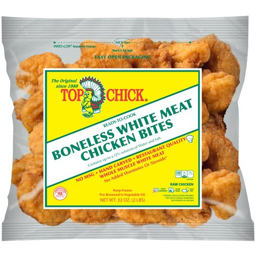Top Chick Boneless White Meat Chicken Bites, 32 oz