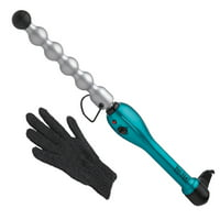 Bed Head Rock N Roller Ceramic Curling Wand for Voluminous Curls; BH320, Teal