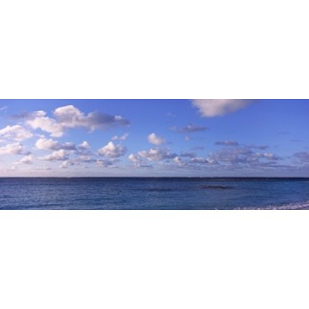 Clouds over the sea Anguilla Canvas Art - Panoramic Images (36 x 13)