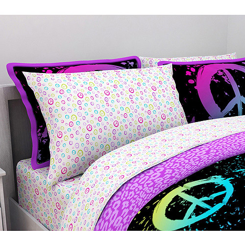Latitude Peace Paint Microfiber Bedding Sheet Set