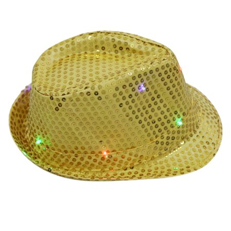 81c6d8a154e18 Generic Women Men LED Fedora Hats Flashing Led Novelty Hats For Adults Jazz  Fedoras Dance Hat - Walmart.com