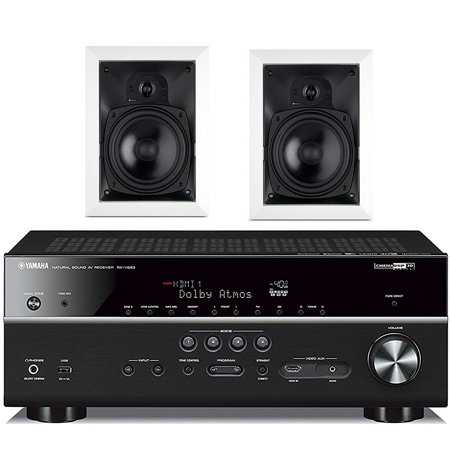 Yamaha 7.2-Channel Wireless Bluetooth 4K Network A/V Wi-Fi Home Theater Receiver + Boston Acoustics 6-1/2