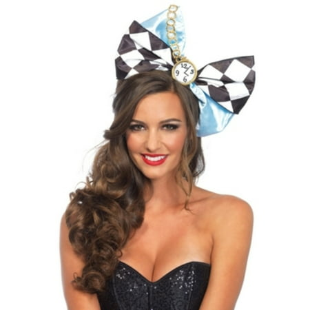 Leg Avenue Women's Alice Oversized Bow Costume Accessory, Black, One - Blow Costume