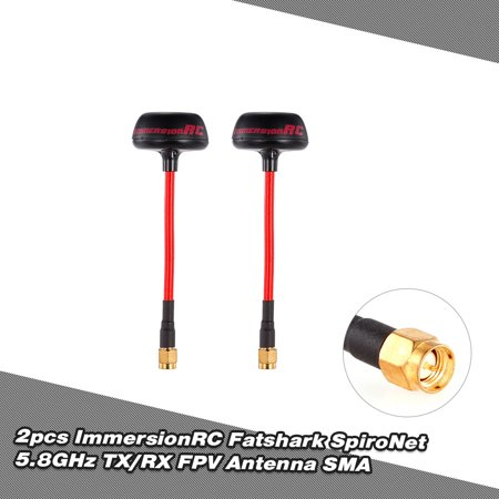 2pcs Fatshark ImmersionRC SpiroNet 5.8GHz TX/RX RHCP FPV Antenna SMA for QAV250 RC FPV Racing Drone