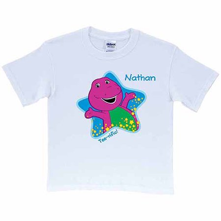Personalized Barney Tee-riffic Kids' T-Shirt, - Kids Personalized