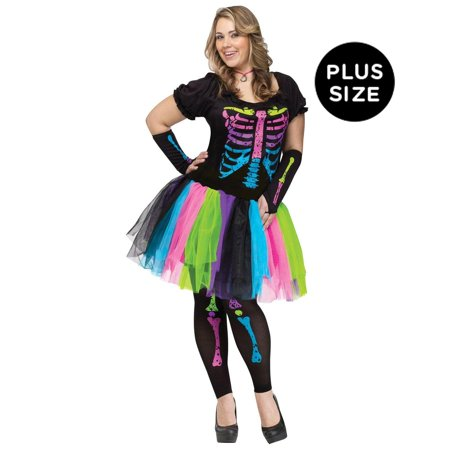 Adult Funky Punk Bones Plus Size Costume - - Costume Plus