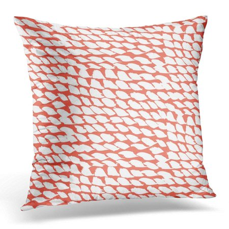 CMFUN Pattern with Colorful Hand Dots Various Organic Shapes and Marks in Coral Red Color for Spring Summer Pillow Case Pillow Cover 20x20 inch