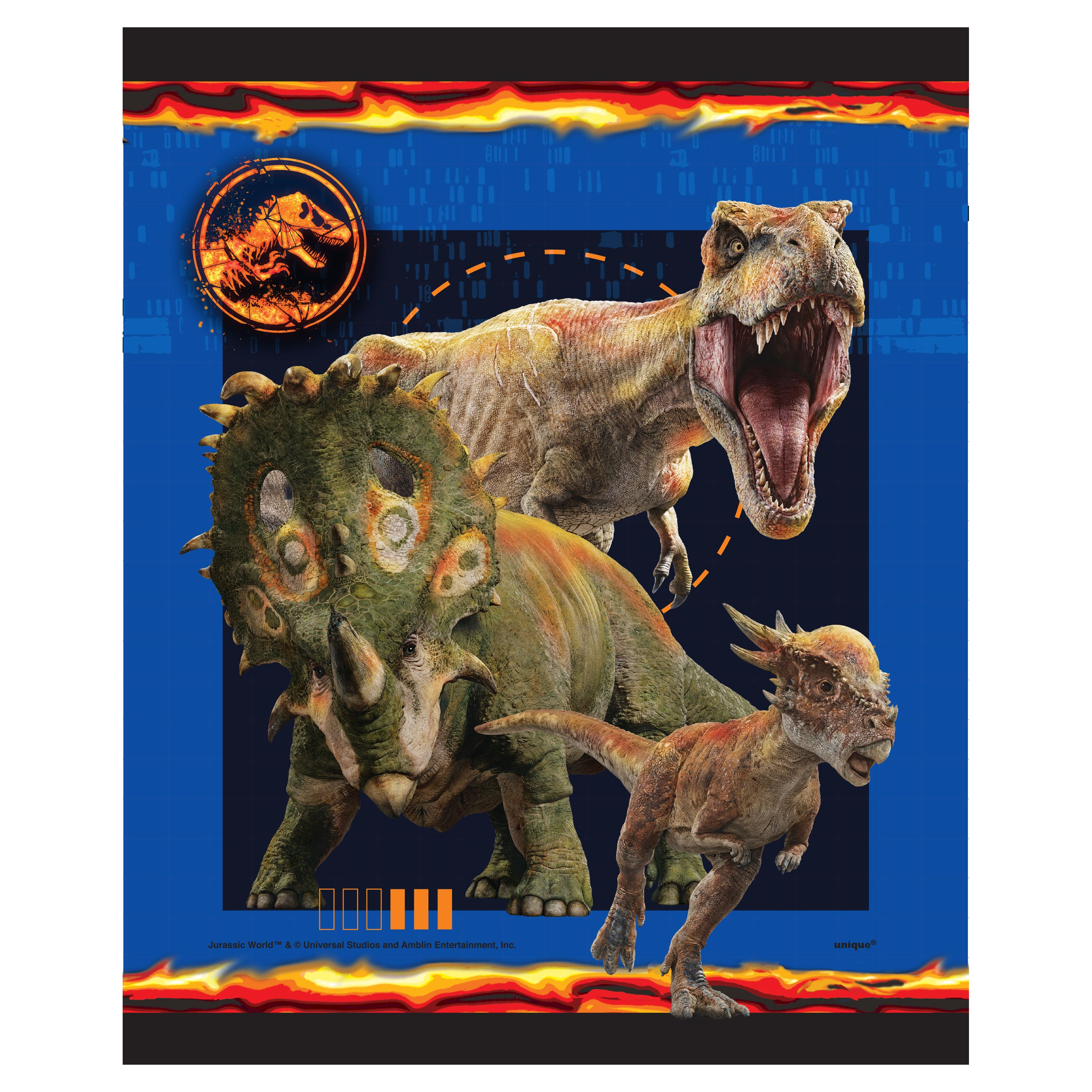 Plastic Jurassic World Goodie Bags, 9 x 7in, 8ct
