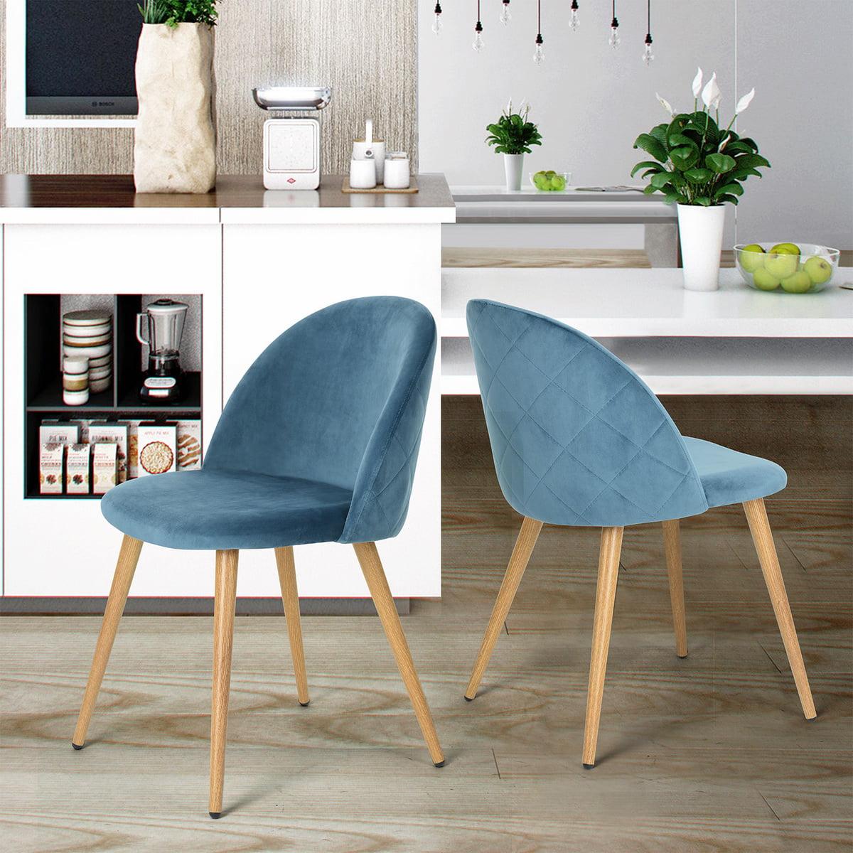 2 Velvet Fabric Accent Chair