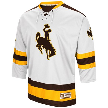 new concept 265f4 adbcd Mens Wyoming Cowboys Hockey Sweater Jersey - 2XL