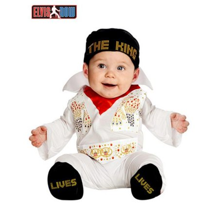 Elvis Onesie Infant Costume - 6M](Elvis Couple Costumes)