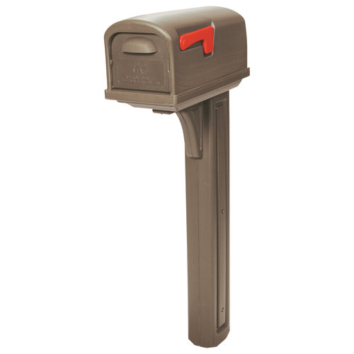 Solar Group Mocha Poly Mailbox Combo GCL10000M