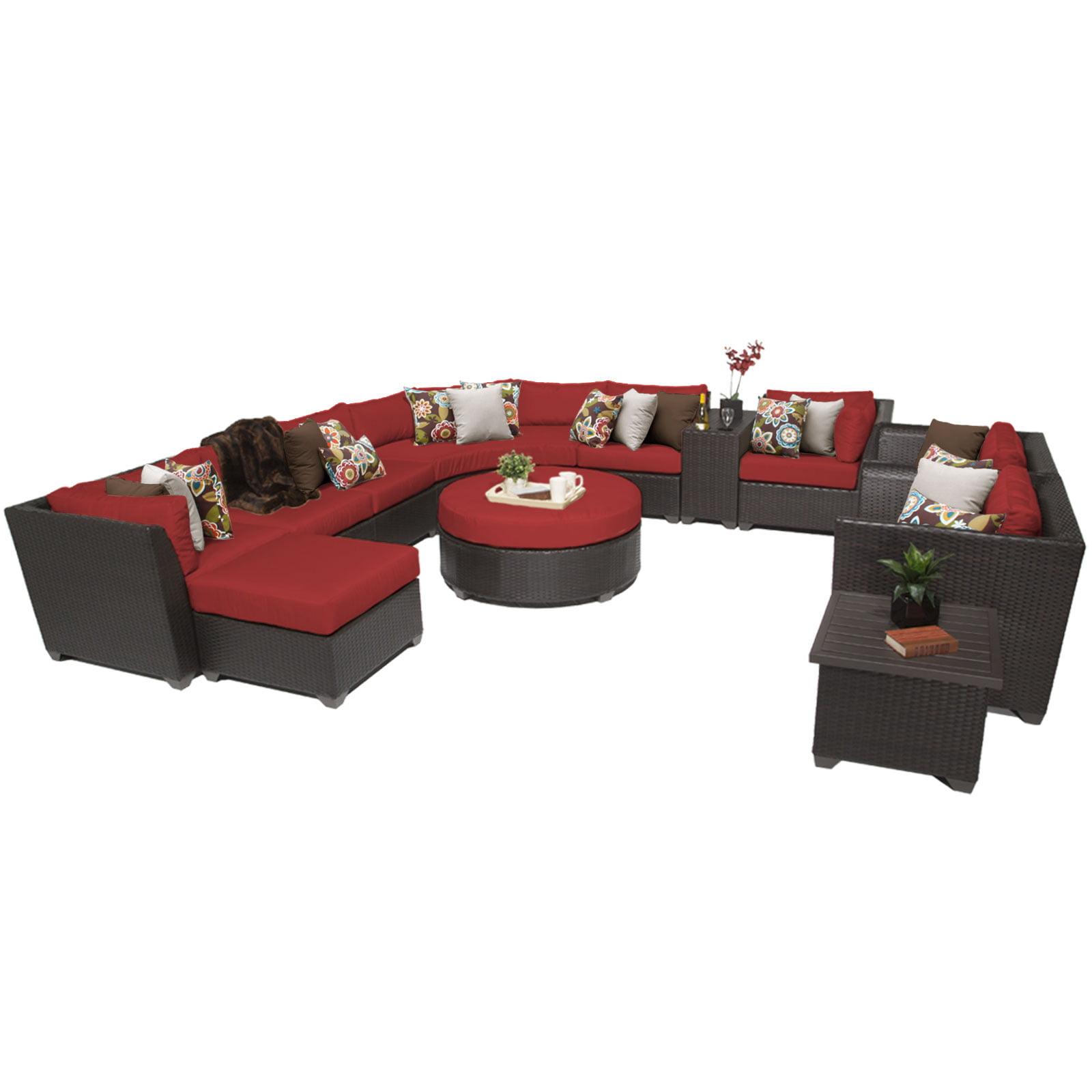 Bermuda 12 Piece Outdoor Wicker Patio Furniture Set 12a by TK Classics