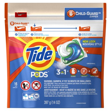 Tide Pods Original Scent He Turbo Laundry Detergent Pacs  16 Count