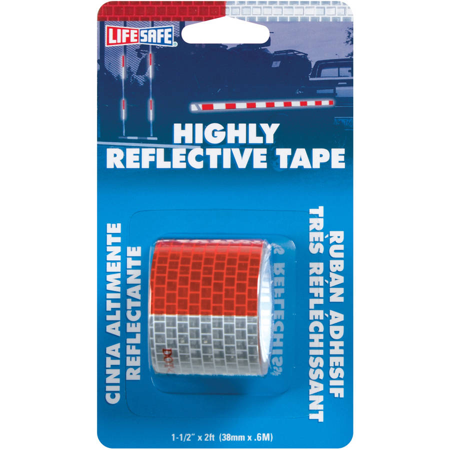 "Incom RE801 1-1/2"" x 2' Red and Silver Highly Reflective Tape"