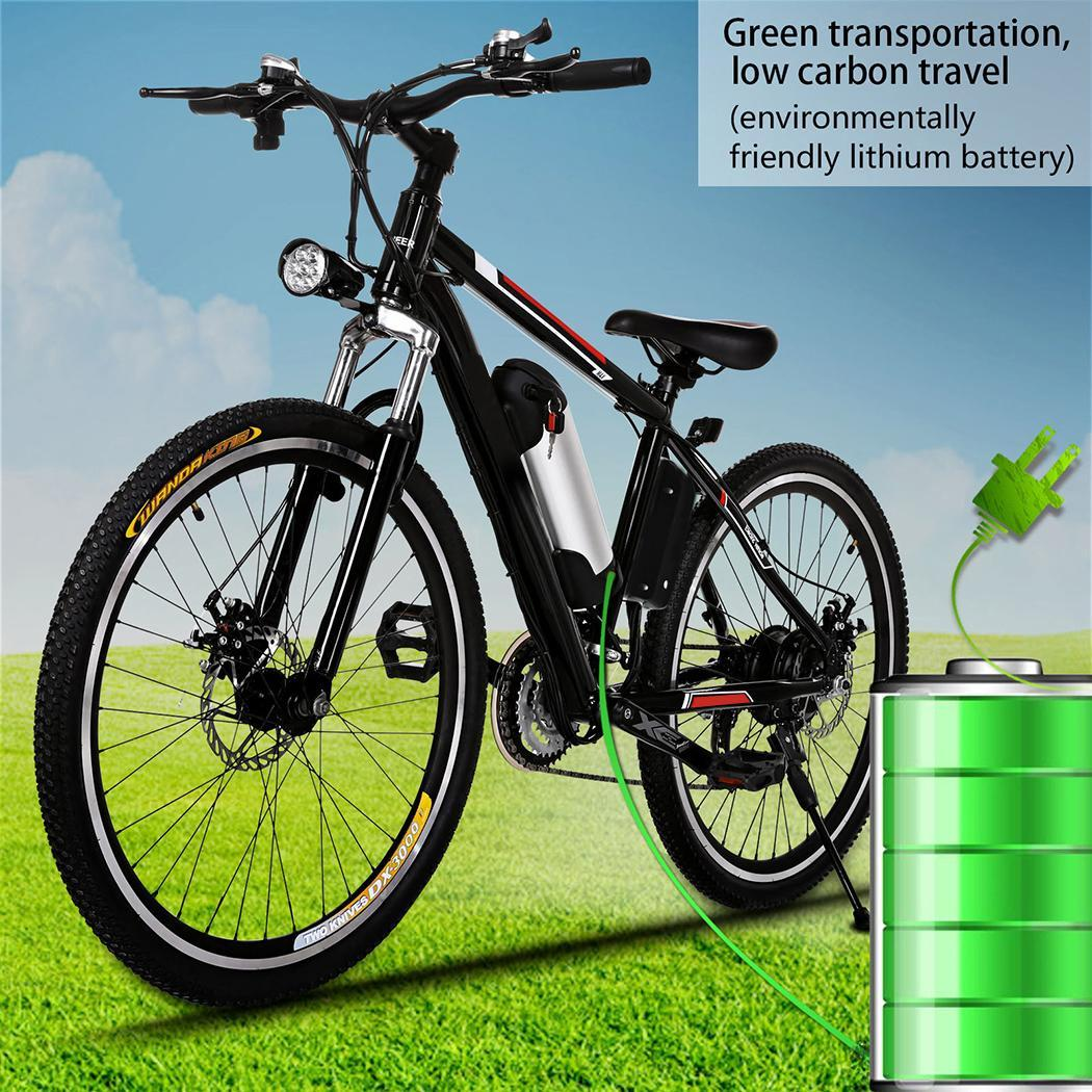 "Holiday HOT SALE ANCHEER Power Plus 25""Electric Bike Mountain Bicycle with Removable Lithium-Ion Battery, Battery Charger"