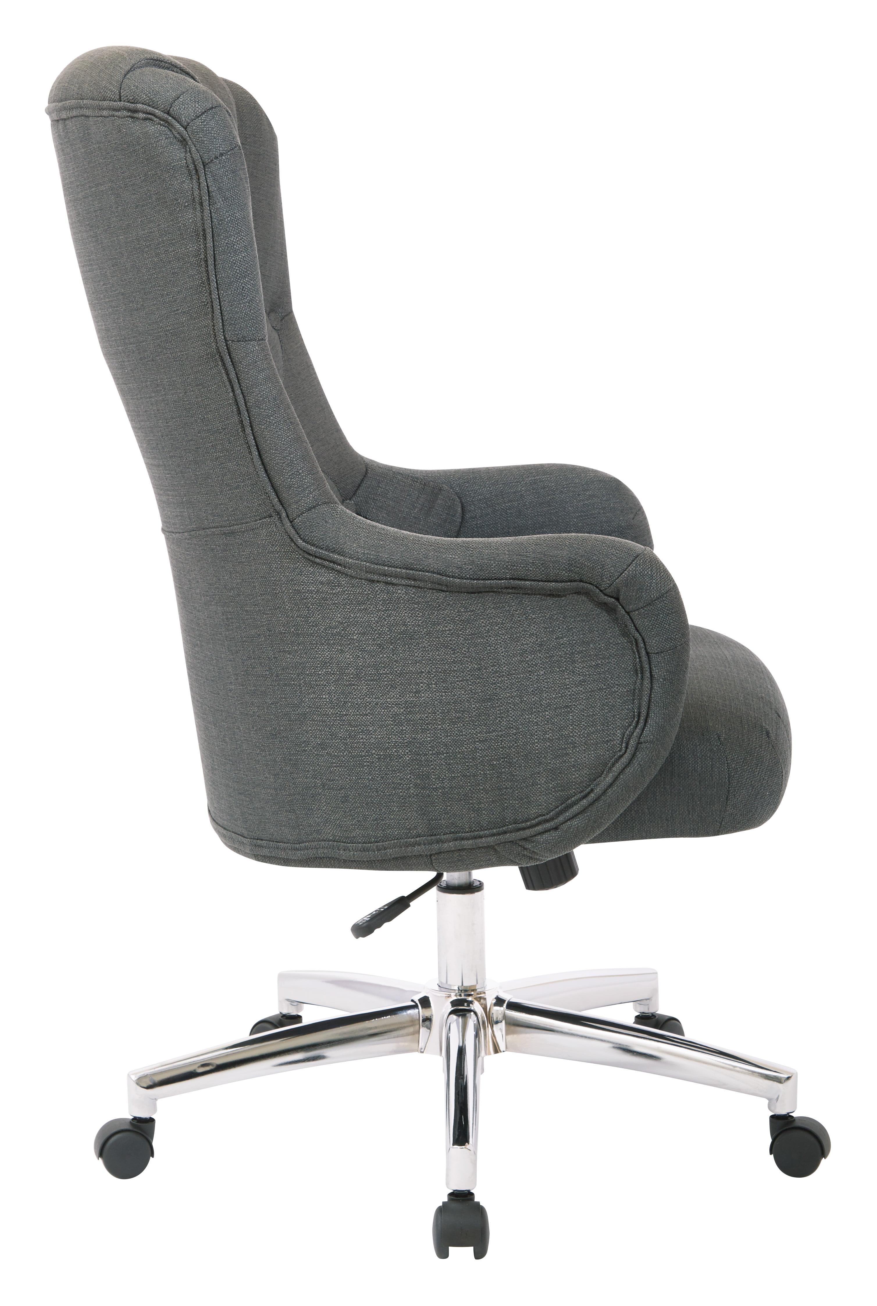 OSP Home Furnishings Ariel Desk Chair in Klein Azure, Semi