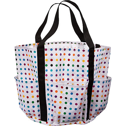 Cappelli Large Jute Tote with Muilti Dots