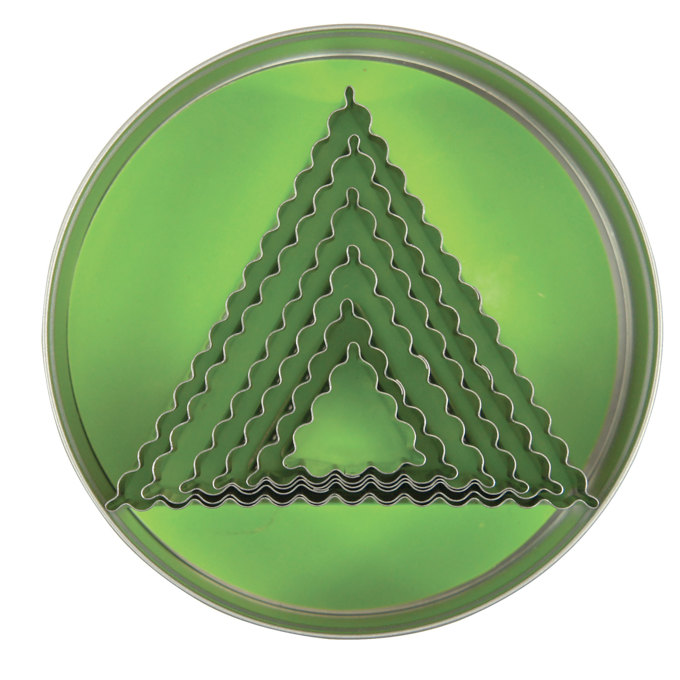Fox Run Craftsmen Crinkled Triangle Cookie Cutters, Set of 6