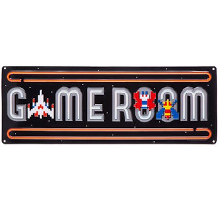 Room Galaga Metal Sign Wall Art Home Decoration Theater Media Man Cave