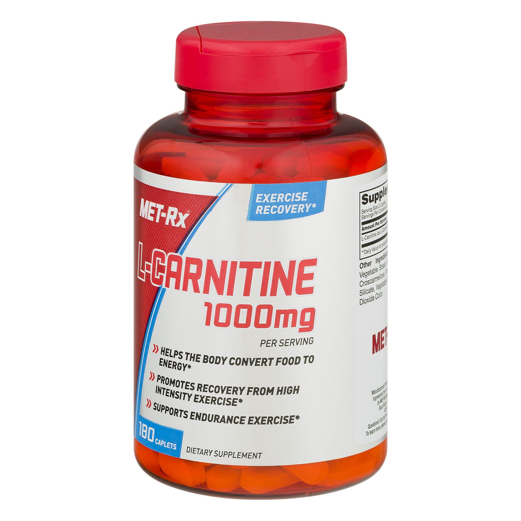MET Rx L Carnitine 1000 MG Caplets 180 Ct