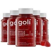 (5 Pack) Goli Nutrition Apple Cider Vinegar , 60 ct per bottle