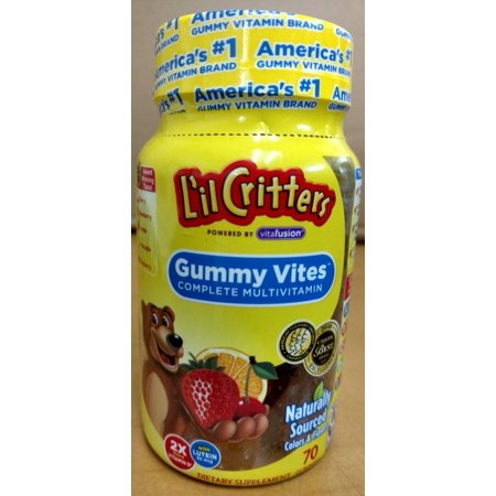 6 Pack - L'il Critters Gummy Vites Multi-Vitamins and Minerals for Kids 70 Each (Lil Critters Gummy Vites 275)